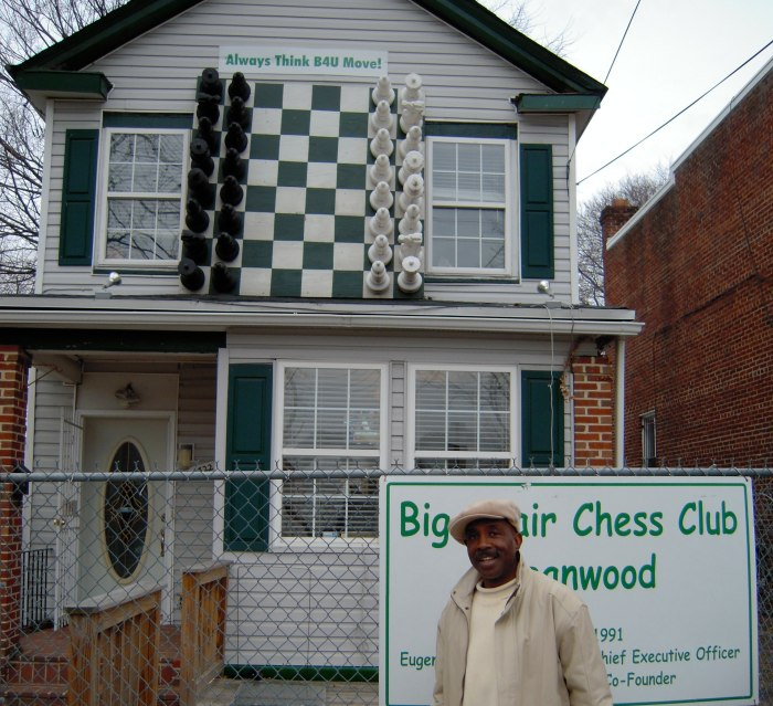 Eugene Brown at his Big Chair Chess Club in Washington DC's Deanwood Neighborhood
