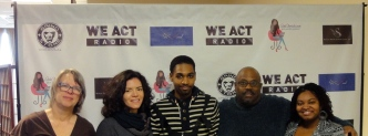 (L-R) V. Spatz, Felicia Ramos, Delonte Williams, T. Byrd, Z. Lewis (intern)