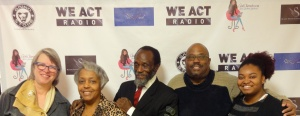 feature reporter Virginia Spatz, Jackie Whitaker, candidate Robert J. Whitaker Sr., Thomas Byrd, intern Zakiya Lewis