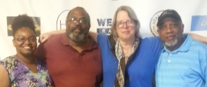 Intern Zakiya Lewis, Host Thomas Byrd, Feature Reporter Virginia Spatz, Engineer Ron Pinchback