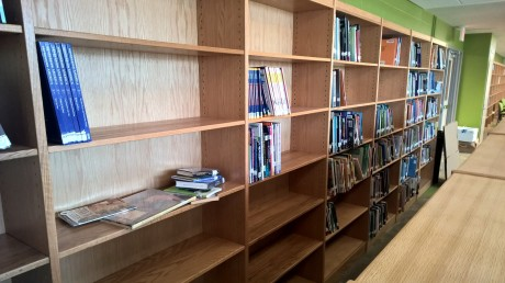 Johnson Middle School library not ready for prime time (credit: P. MacPherson)