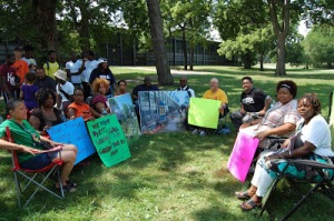 Hunger Strikers for Dyett High School, via Teachers for Social Justice