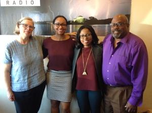 Spatz (l) and Byrd (r) with Hubbard and Jennifer Durden [former ETH producer], Byrd
