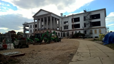 photo: P. MacPherson, Duke Ellington SHS construction late October 2015